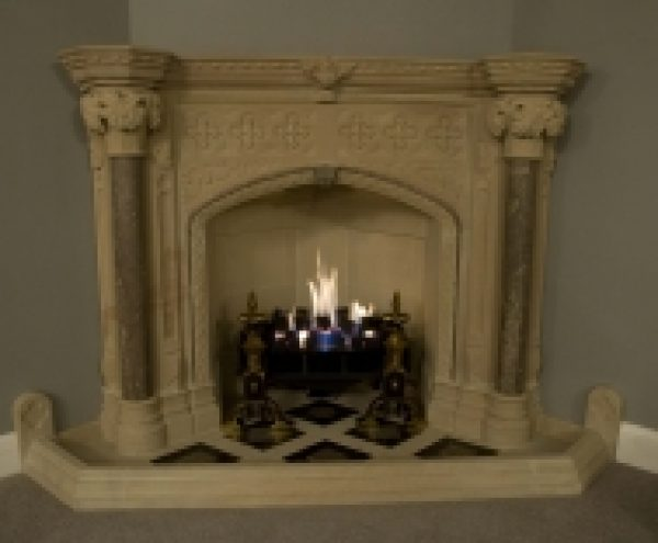 Bespoke Gothic Revival Fireplace